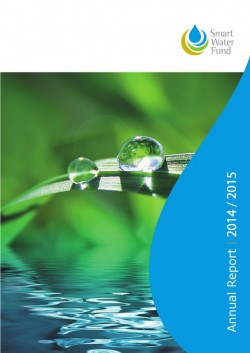 Smart Water Fund Annual Report 2014/2015